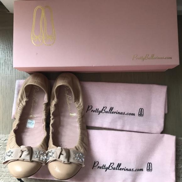 a29ee38e72075 Pretty Ballerinas Shoes   Pretty Ballerina Swarovski Detail Ballet ...
